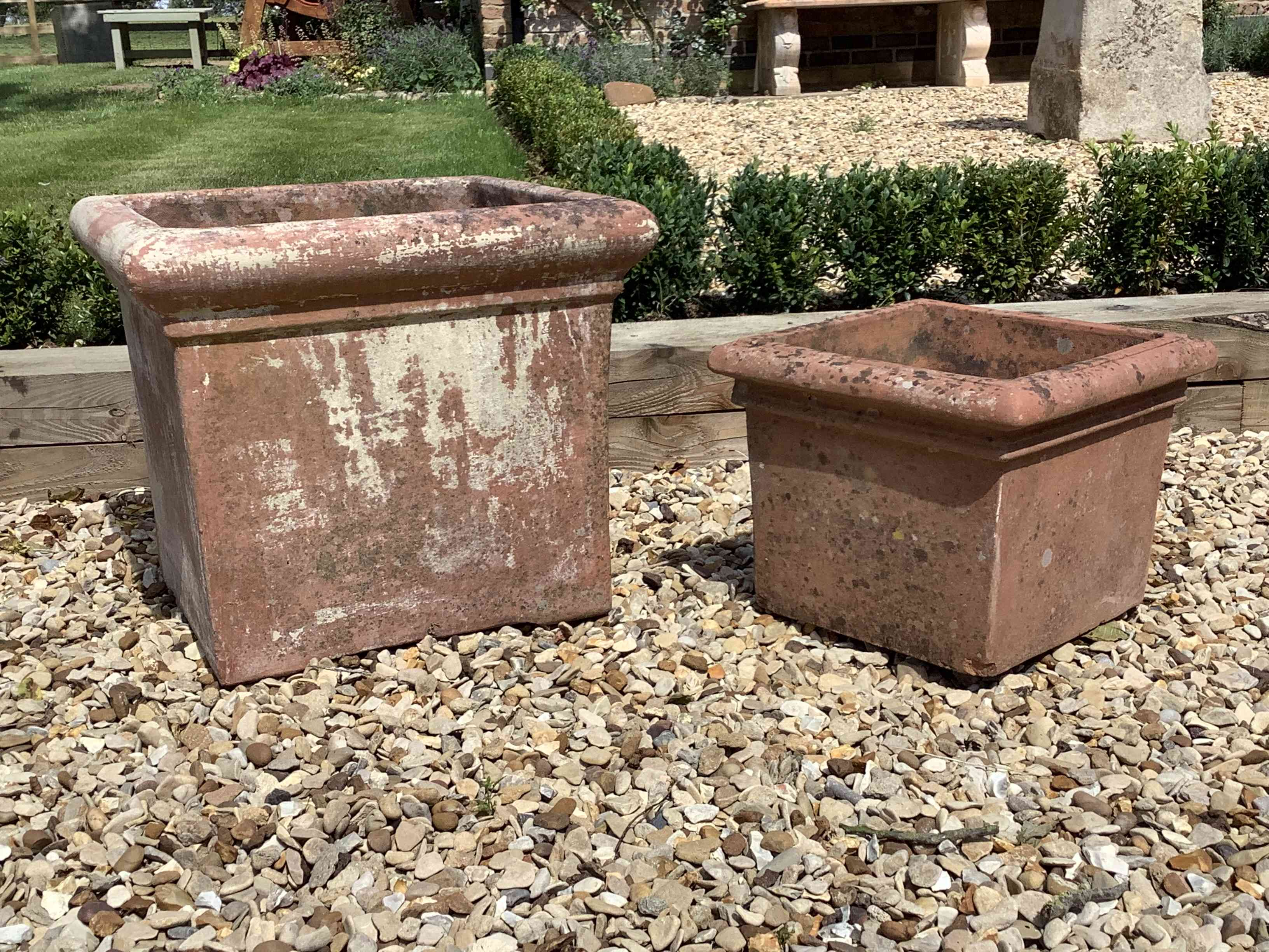 Terracotta Planters x two